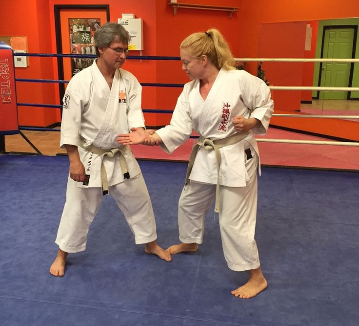 The self-defence technique I have chosen today is an in-line wrist grab, this is a very common action to be grabbed and pulled forwards, step 3.