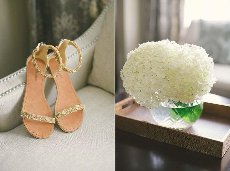 Flat beaded wedding shoes | Photography: Olive Photography | Toronto wedding photographer | www.olivephotography.ca