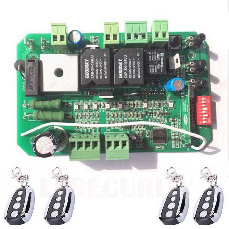 AUTOMATIC DC SLIDING GATE OPENER 24VDC motor CONTROL Circuit BOARD Card power controller with 4 remote controls