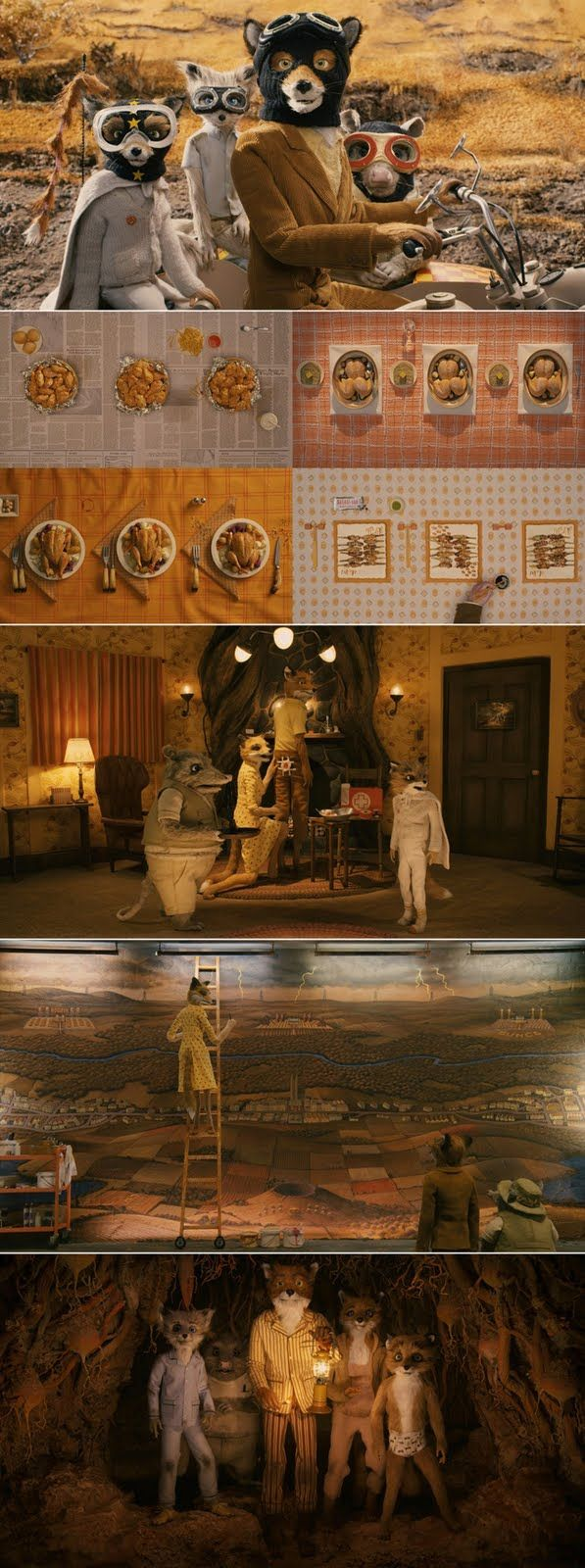 PRODUCTION DESIGN/ANIMATION Fantastic Mr. Fox [2009] Wes Anderson In Roald Dahl's Fantastic Mr Fox, Anderson extends his use of puppetry seen in earlier films to create a full length animation will as much attention to detail and epic storytelling as ever.
