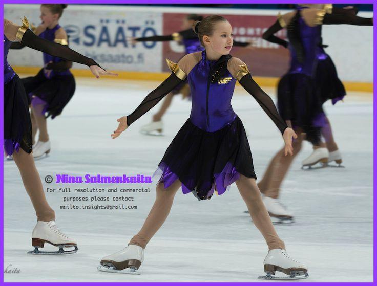 Team Sympatique (pre juvenile level) FIN at a competition Feb 2014