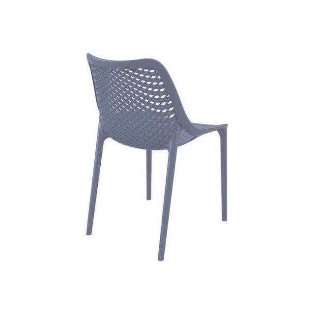 Chaise design  anthracite MENAZ