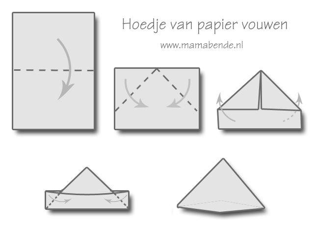 hoedje van papier vouwen - Google zoeken