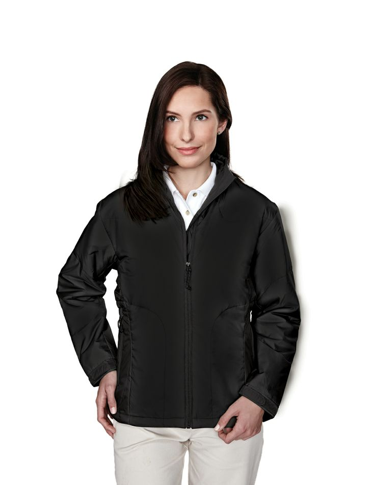 Women Nylon Jacket With Microfiber Quilted Lining Windproof/Water Resistant. Tri mountain 8230 #waterresistant #Waterproof #Quilted #Windproof #Trimountaingold #Trimountain #Womenswear #Women