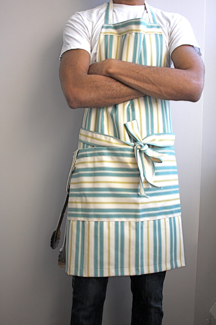 Mens chefs apron. $35.00, via Etsy.
