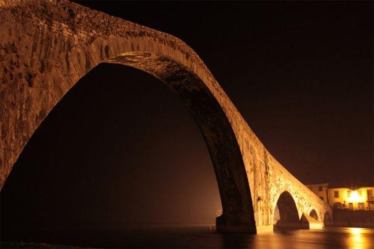 Halloween night at Devil's Bridge, Borgo a Mozzano