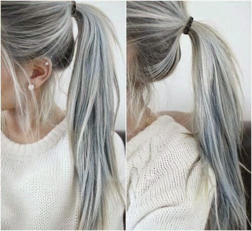 Chic Adicta, gray hair, cabello gris, hairstyle, trendy, cabello blanco, moda chicas, tendencias cabello, trends hair, Piensa en Chic www.PiensaenChic.com