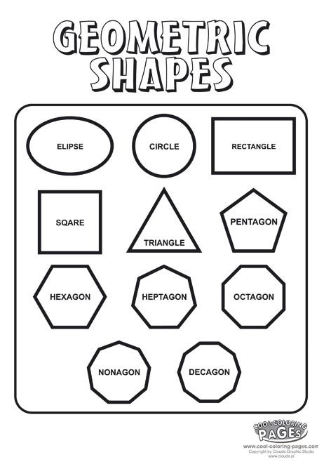 shapes coloring pages for preschool - photo#30