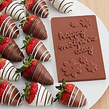 Sweet Mothers Day Card & 12 Swizzled Strawberries or really anything chocolate