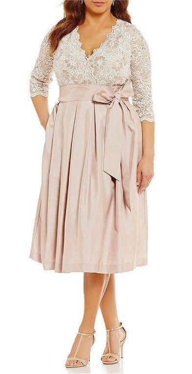 33 Plus Size Wedding Guest Dresses {with Sleeves} - Plus Size Cocktail Dresses - alexawebb.com