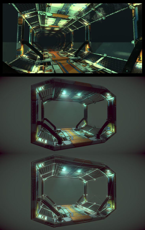 Sci-Fi Corridor by samdrewpictures.deviantart.com on @deviantART