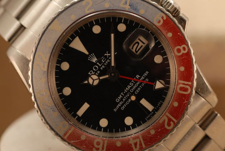 VINTAGE ROLEX GMT MASTER 1675 2.5MIL 2ND QTR 1970 MATTE DIAL HEAD UNPOLISHED!!  | eBay