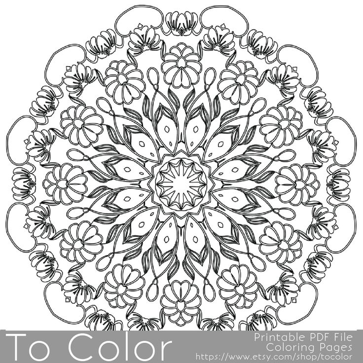 Intricate Printable Coloring Pages For Adults Gel Pens Intricate Mandala Coloring Pages