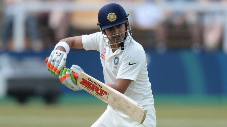India Blue opener Gautam Gambhir plays a shot during his unbeaten 51-run knock…