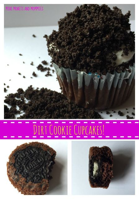 Make cookie-bottom dirt cupcakes with Oreos! Yum! The Ultimate Party Week 58