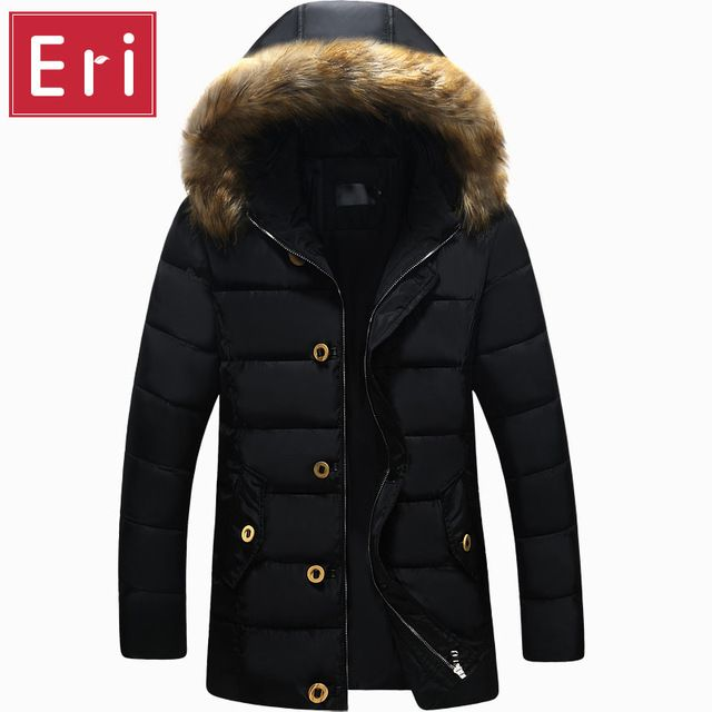 Check lastest price New Fashion Winter Brand Clothing Parkas Men Thick Parka With Fur Hooded Zipper Solid Trend Long Mens Jackets And Coats X479 just only $37.69 with free shipping worldwide  #jacketscoatsformen Plese click on picture to see our special price for you