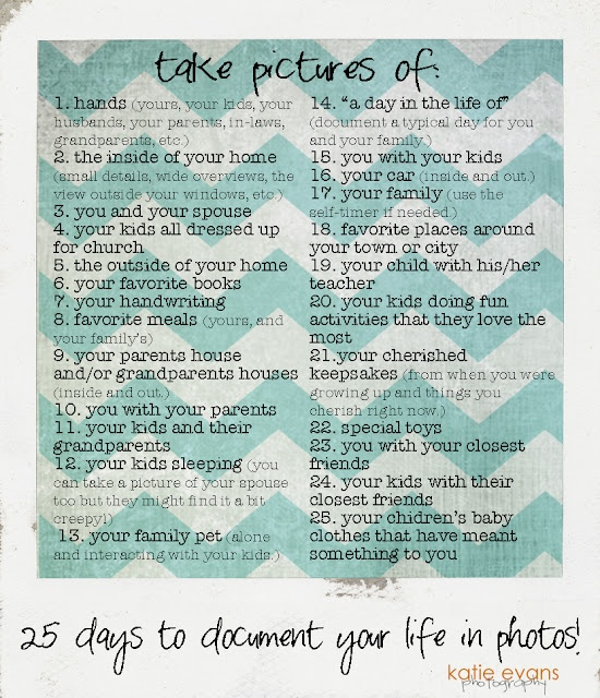 Document your LIfe: things to take pictures of