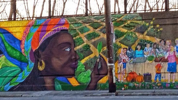 Street Art, amazing mural in Pointe St Charles