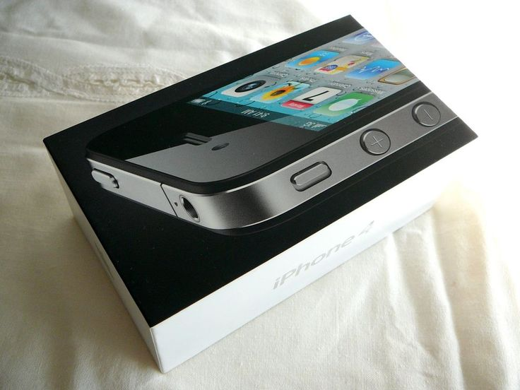 IPhone 4 Black BOX ONLY Plus Stickers Guides For 16GB