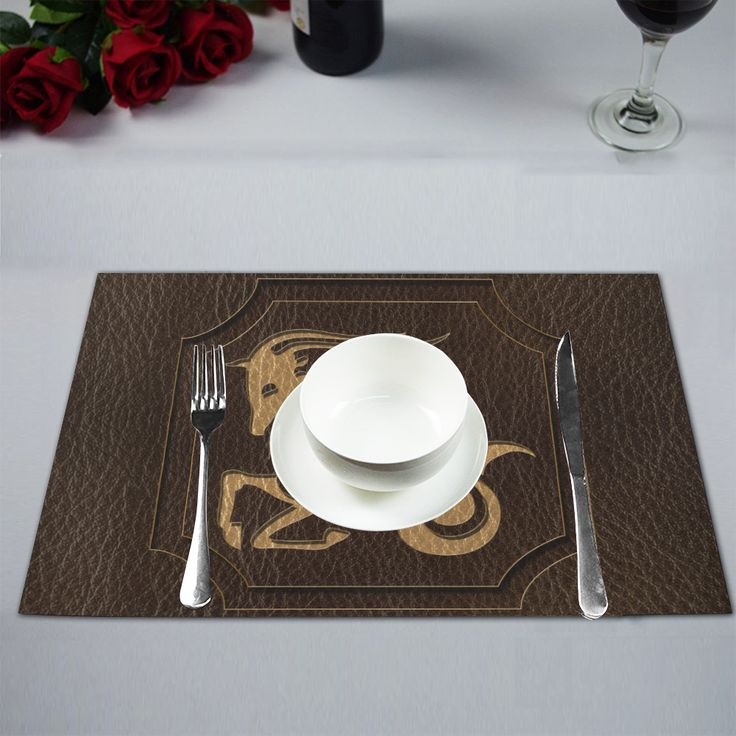 Leather-Look Zodiac Capricorn Placemat 12''x18''
