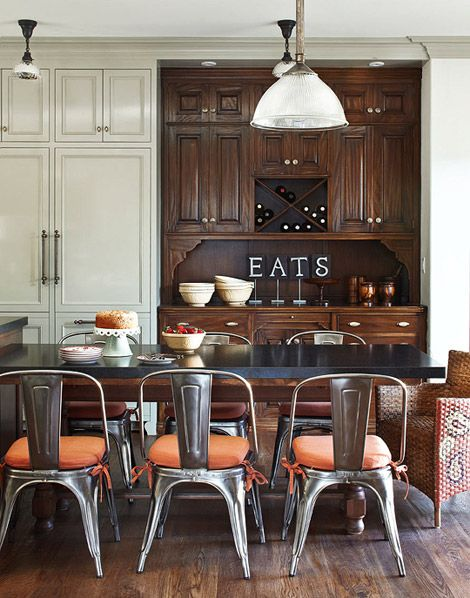 33 best palette sweet orange images on pinterest orange living room and living rooms - Orange kitchen chair cushions ...