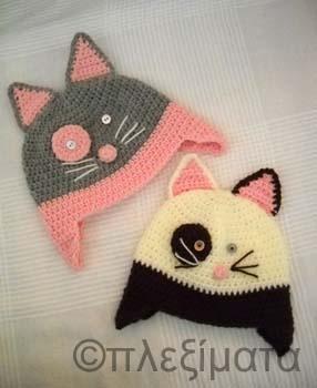 crochet cat beanies
