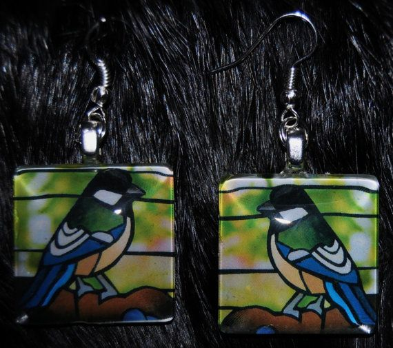 Chickadee Earrings by KabloonaKreations on Etsy, $13.00