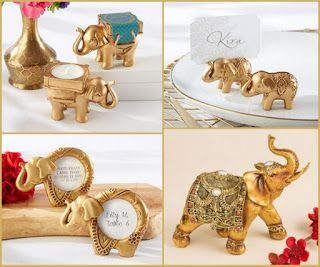 HotRef Blog: Good Luck Gold Elephant Wedding and Party Favors from HotRef.com #elephant #gold #Indianwedding