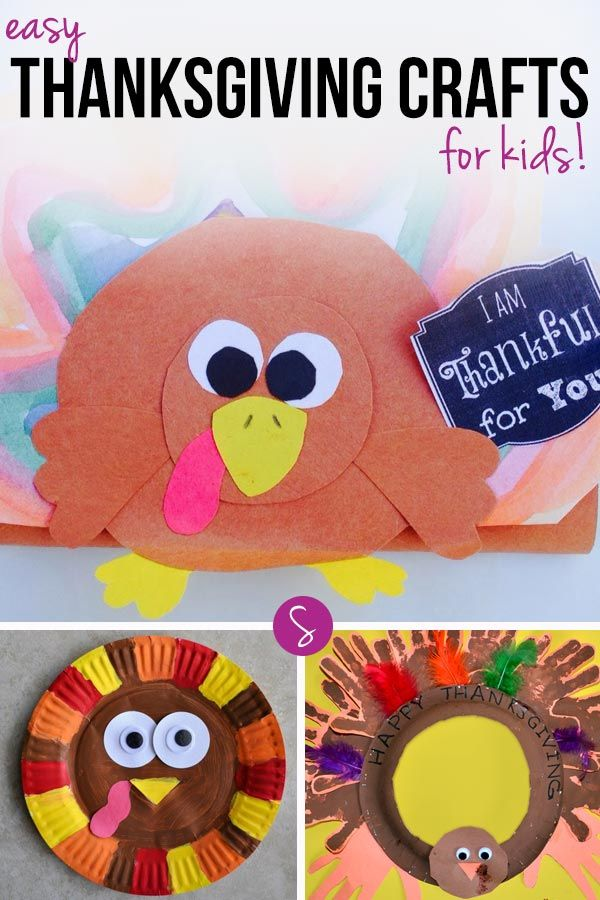 Easy Turkey Crafts for Kids: The handprint wreath is brilliant!