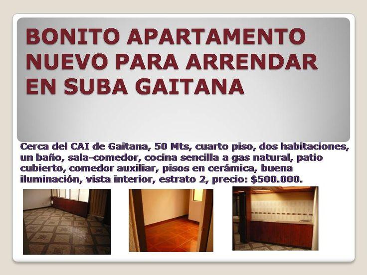 Apartamento para estrenar en arriendo en suba Gaitana.