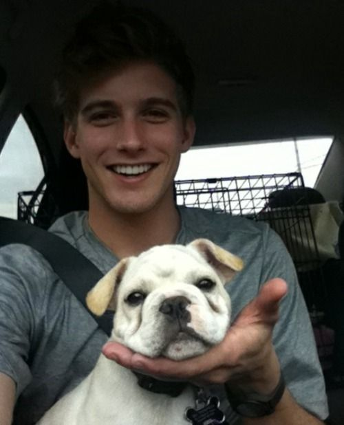 there's really nothing cuter than a guy with a pet - except a super cute/handsome guy with a puppy. i mean, really?