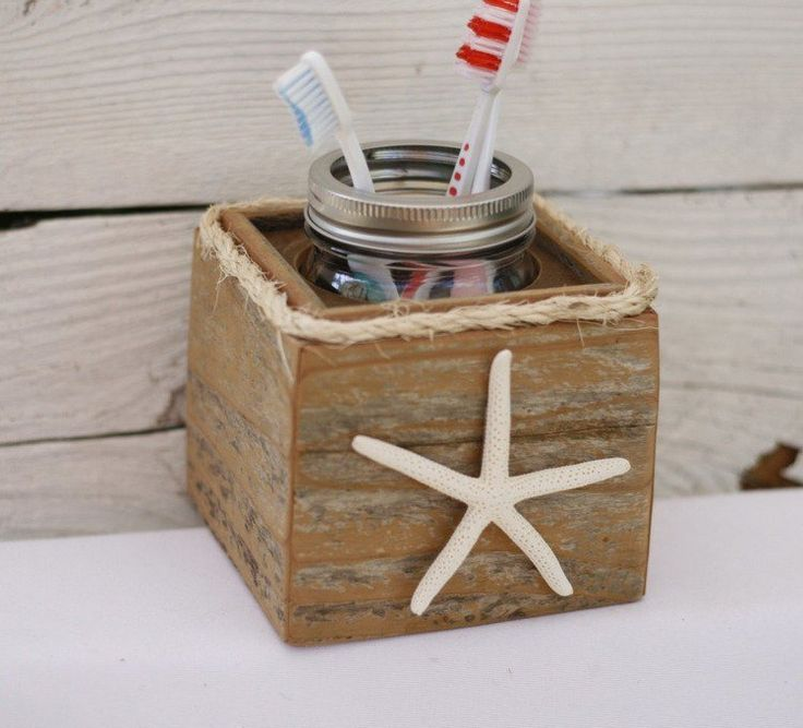 décoration salle de bain de style nautique- accessoires avec étoile de mer