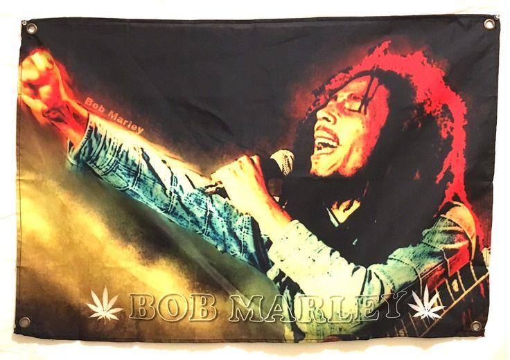 "Reggae style Bob Marley 24""x36"" fabric poster Street art style design Cool art #Reggae #streetart"