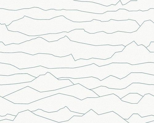 This graphic wallpaper with horizontal jagged lines which are remeniscent of mountains reminds me of Joy Division's 'Unknown Pleasures' album cover. I love this as a wallpaper though.. simple without being boring. And it's by designer Werner Asslinger!