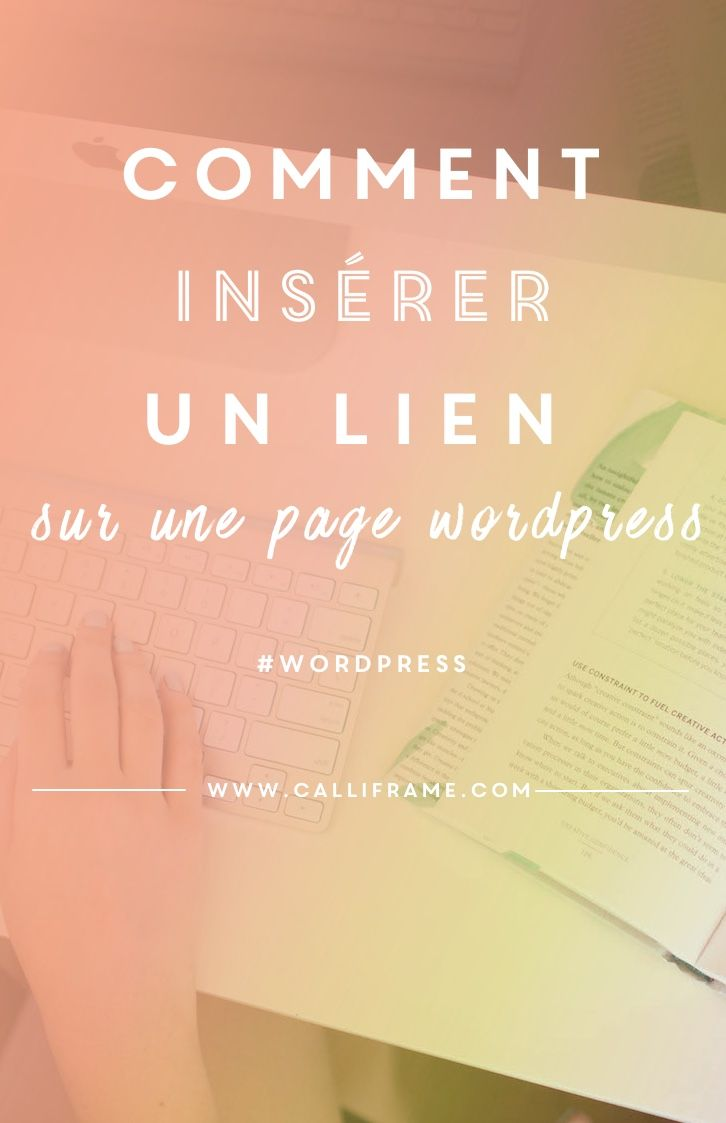 Pour les débutants, comment insérer un lien et cocher la bonne option sur une page de son site ou de son blog wordpress.