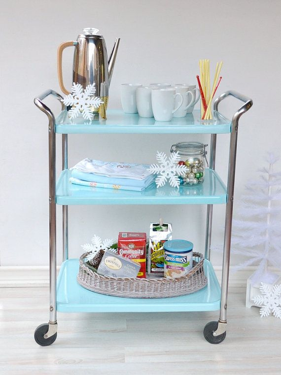 vintage cosco cart 3 shelf rolling cart by on etsy