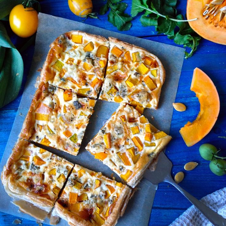 Pumpkin and Blue Cheese Tart by lusya on #kitchenbowl