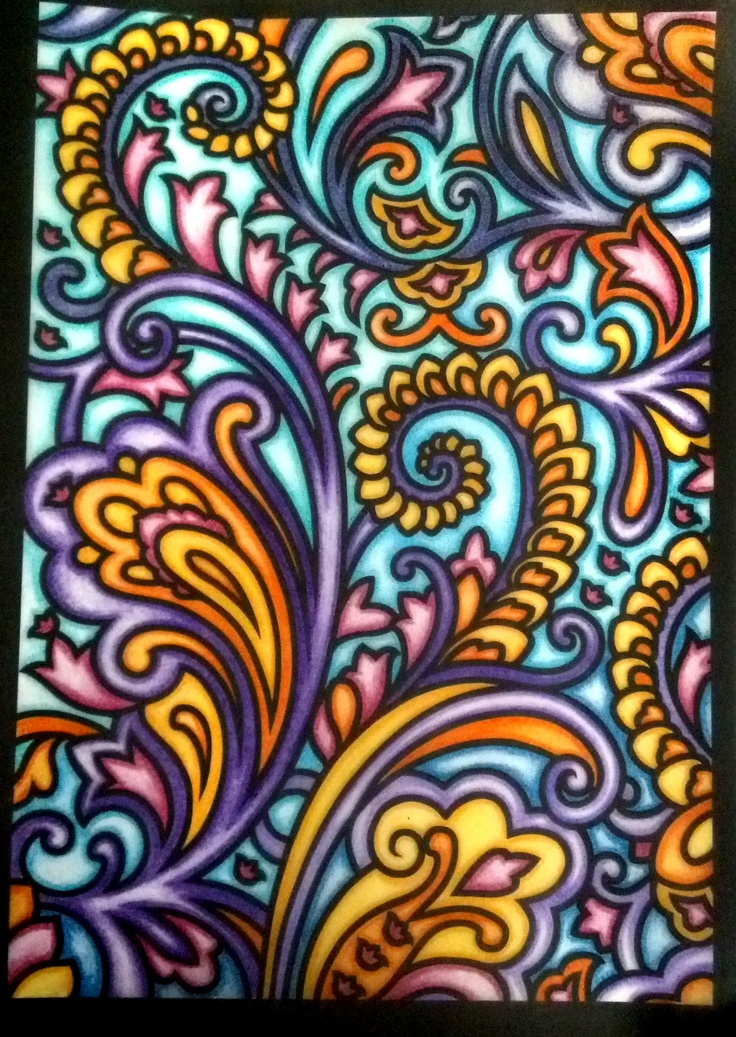 Paisley Designs By Marty Noble 18 Colored Pencil