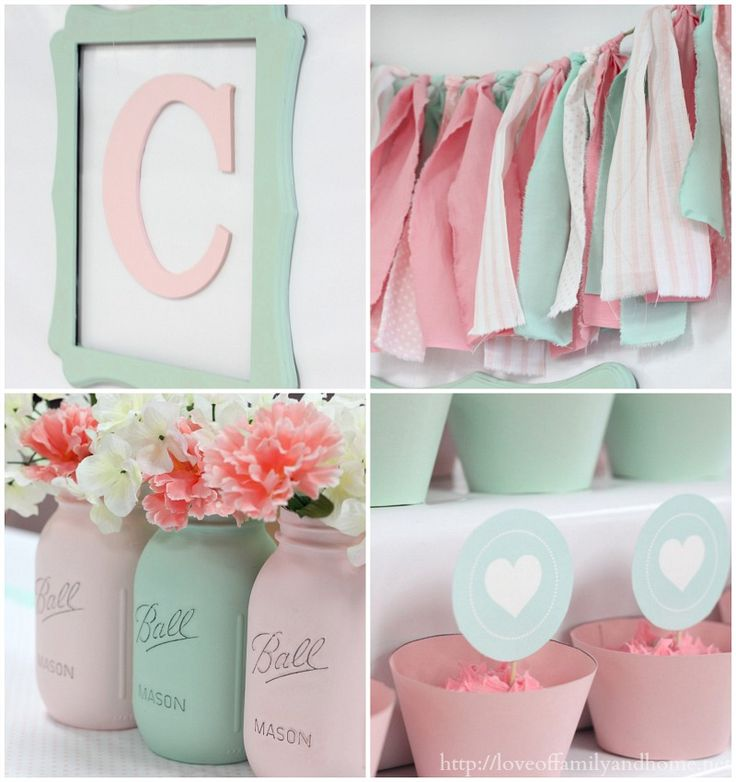 Amazing color scheme for a girl's room!