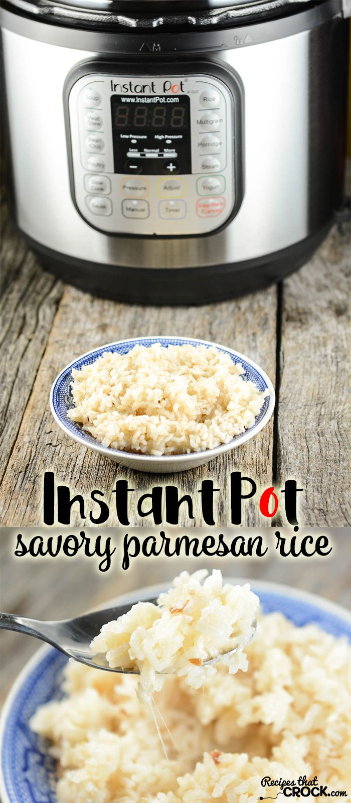 Electric Pressure Cooker Rice Recipe for Savory Parmesan Rice. This is one of our favorite Instant Pot recipes!