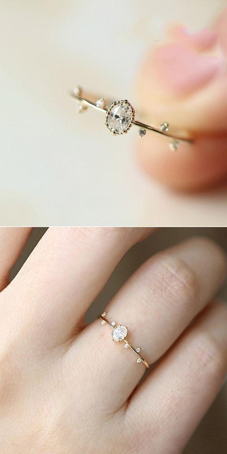 227f581c4422f Pin de Fernanda em Minimalist jewelry em 2019   Jewelry, Gold plated rings  e Gold Rings