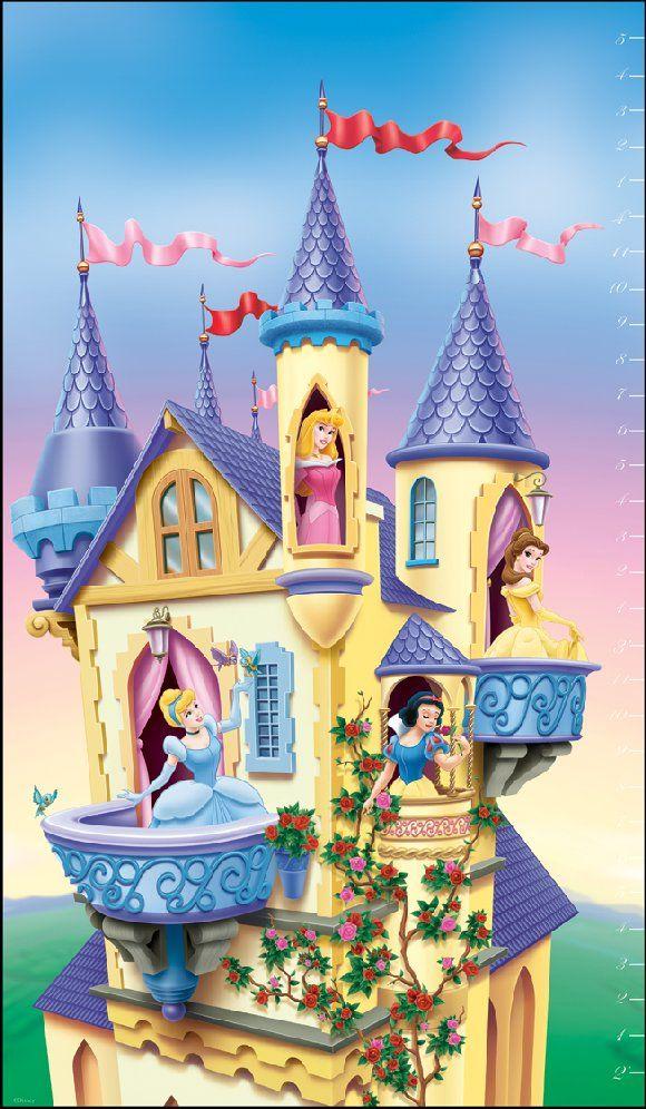 Disney Princess Ballerina Clip Art | Disney Princess Castle Growth Chart - Kids Decorating Ideas