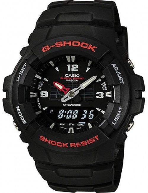 Casio Mens G-Shock Ana-Digi Watch, Molded Resin Case And Band #Casio #Casual