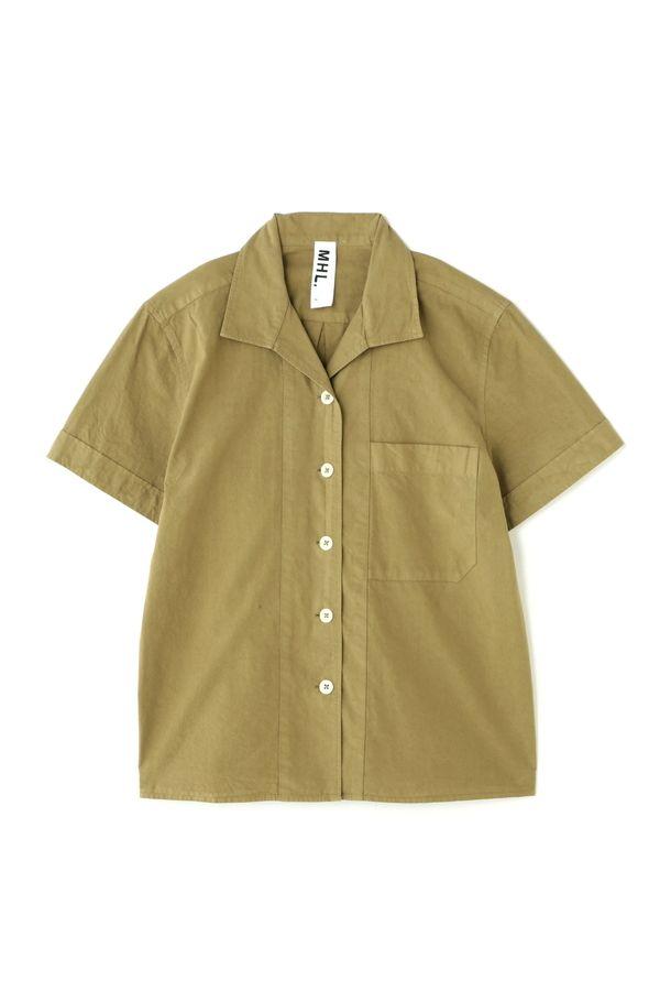 PAPER COTTONコットン素材のオープンカラーシャツ。品番:595-7152501 , 5957152501 ※こちらはウィメンズの商品です。...