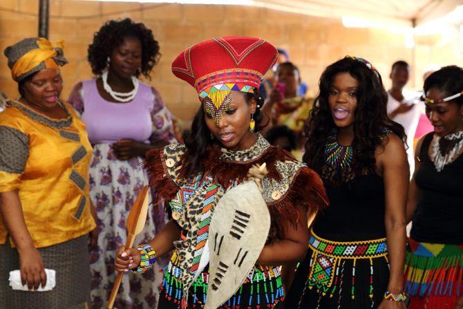Zulu bride. south Africa