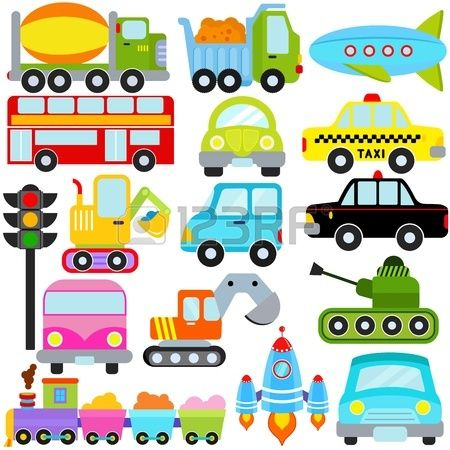 Un conjunto de iconos vectoriales lindos: coches Vehículos / Transporte Foto de archivo - 12184914