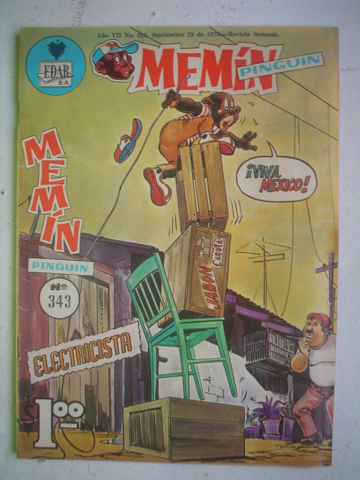 Revistas Mexicanas Comics De Amor | Comic Revista Memin Pinguin Nº343 De 1970