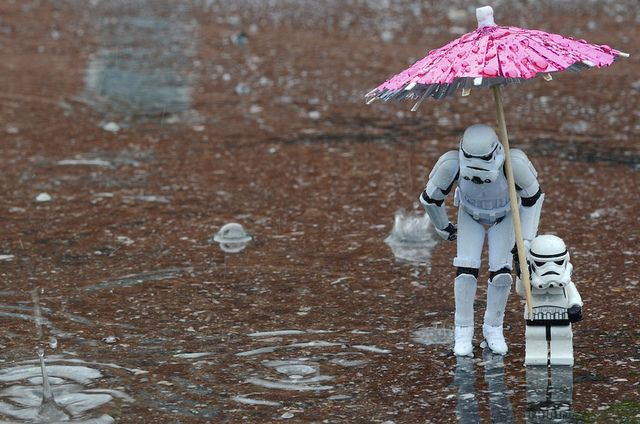 Don't step in the water son!: Storms Troopers, Stars War, Funny, Stormtroopers, Warm Fuzzy, Raindrop, Lego, Starwars, Rain Drop