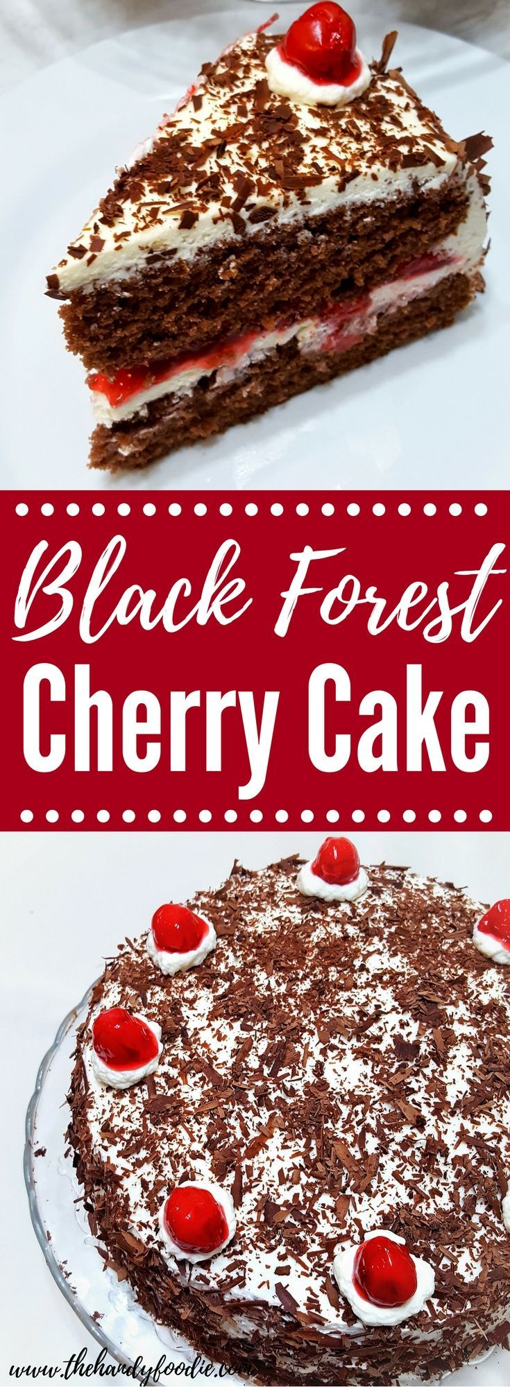 Super Decadent Black Forest Cake is my favorite cake. easy cake l birthday cake l party cake l yummy cake l budget dessert l easy dessert l chocolate cake l whipped cream l cake mix l cake recipe