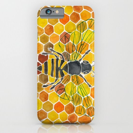 Bee+&+Honeycomb+iPhone+&+iPod+Case+by+Cat+Coquillette+-+$35.00